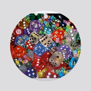 Lets Roll - Colourful Dice Ornament (Round)